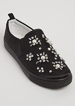 Rhinestone Burst Skate Shoes