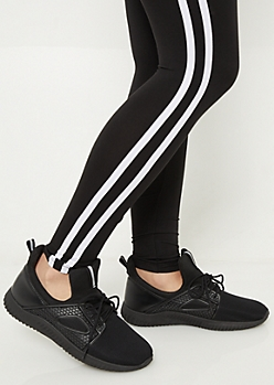Black Tonal Extended Tongue Sneakers