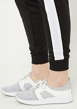 Heather Grey Sweater Fabric Sneakers