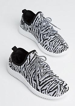 Zebra Knit Trainers