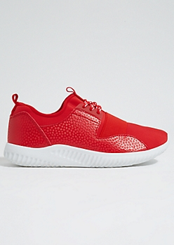 Red Elastic Band Trainers