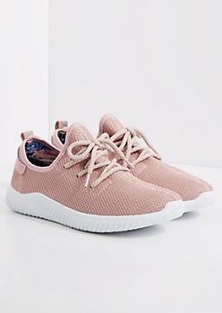 Pink Mesh Trainers