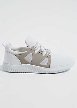 White Mesh Side Sneakers