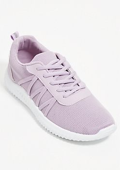 Lavender Mesh Low Top Trainers