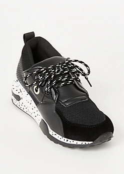 Black Speckled Dad Sneakers