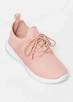 Pink Side Band Knit Trainers