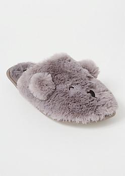 Gray Critter Slippers
