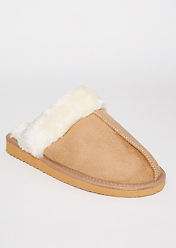 Sand Sherpa Lined Slippers