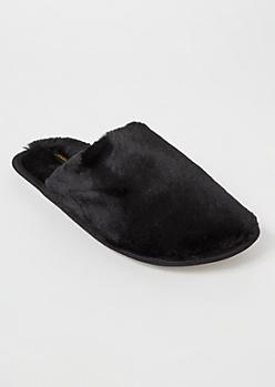 Black Fluffy Slippers