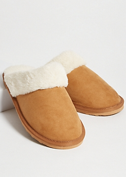 Cognac Faux Fur Cozy Slippers