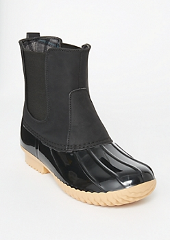 Black Side Gore Duck Boots