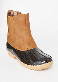 Brown Side Gore Duck Boots