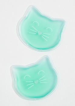 Mint Green Cat Gel Eye Masks