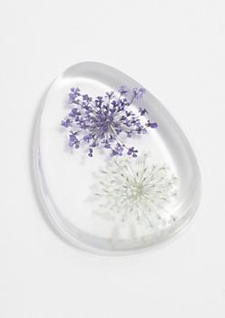 Purple Floral Silicone Blending Sponge