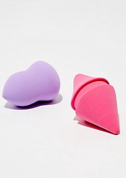 2-Pack Pink Makeup Sponge Set