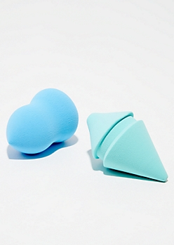 2-Pack Blue Makeup Sponge Set