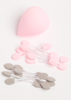 Pink Deluxe Makeup Applicator Set