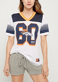 Denver Broncos Striped Football Jersey