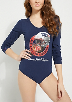 New England Patriots Crossing Strap Bodysuit