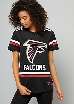 NFL Atlanta Falcons Black Mesh Varsity Striped Jersey
