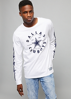 NFL Dallas Cowboys White Logo Sleeve Crew Neck Tee