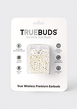 Gold Star Print Wireless Earbuds