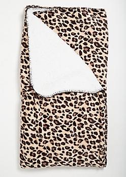 Leopard Print Cozy Throw Blanket
