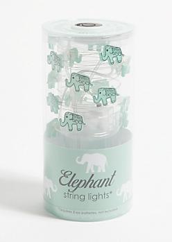 Mint Elephant Firefly String Lights