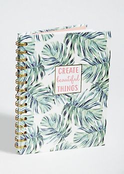 Palm Print Create Beautiful Things Notebook