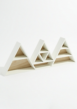 White Triangle Shelving Unit