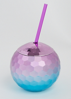 Ombre Disco Ball Tumbler