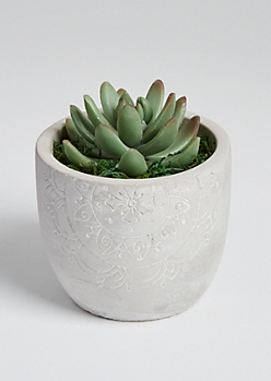 Faux Mini Boho Potted Succulent
