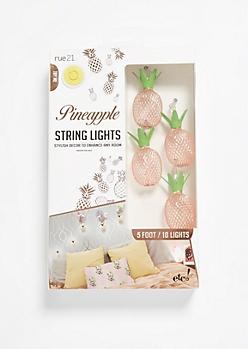 Copper Pineapple Firefly String Lights