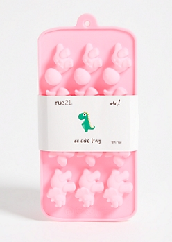 Pink Silicone Dinosaur Ice Cube Tray