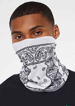 White Bandana Gaiter Face Mask