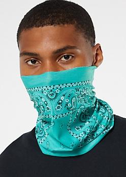 Aqua Bandana Gaiter Face Mask