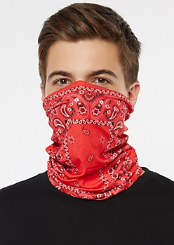 Red Bandana Gaiter Face Mask