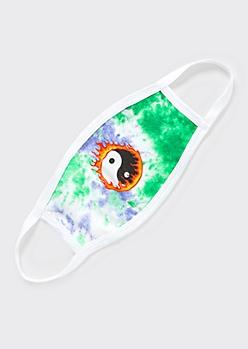 Yin Yang Flame Tie Dye Face Mask