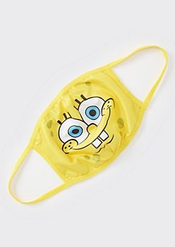 Yellow SpongeBob SquarePants Fashion Face Mask