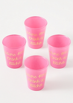 4-Pack Hot Pink Future Mrs. Shot Glass Set