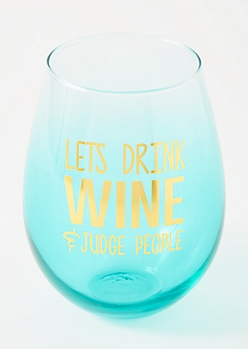 Blue Ombre Judge People Jumbo Wine Glass