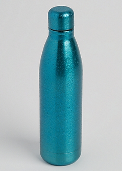 Mint Glittering Insulated Water Bottle