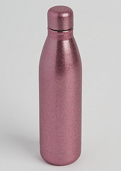 Pink Glittering Insulated Water Bottle