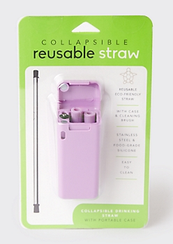 Lavender Reusable Metal Straw