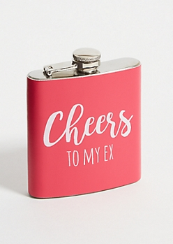 Pink Cheers To My Ex Flask