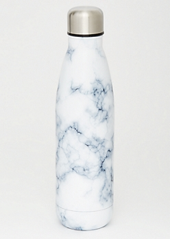 White Marble Stainless Steel Water Bottle