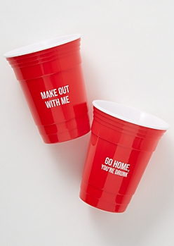 2-Pack Red Make Out Party Cup Set