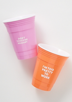 8c4efb056d6 2-Pack Bright Sassy Party Cup Set