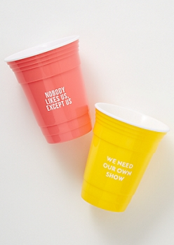 2-Pack Bright Our Own Show Party Cup Set