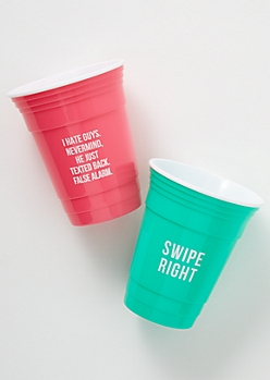 2-Pack Bright Swipe Right Party Cup Set